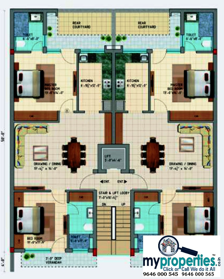 Kothi Construction Services: 3 BHK & 2 BHK Ready To Move Flats In Ananta Floors On