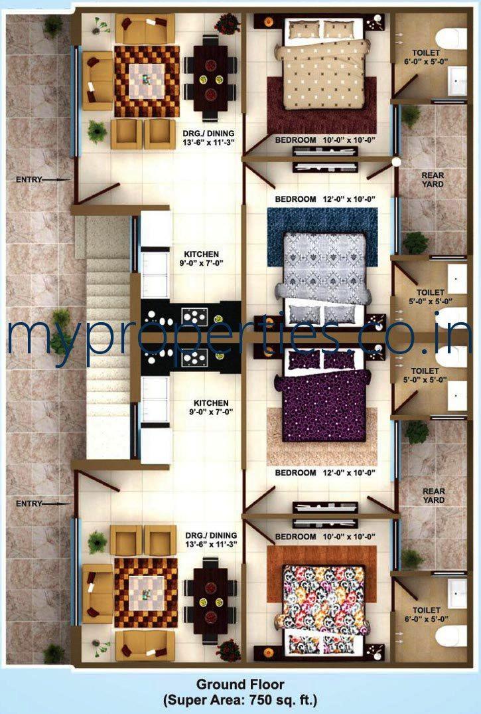 2 BHK flats in darpan homz kharar