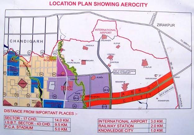 aerocity location map