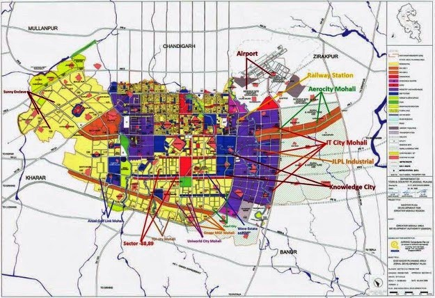 location map gmada aerocity mohali 9023407035