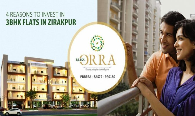 Bliss Orra Zirakpur I 3 BHK 4 BHK Flats in Motia Royal Citi Ambala Road Zirakpur – Call – 9290000454, 9290000458