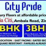 3 BHK Ready To Move Flats in City Pride, Motia City, Chandigarh Ambala Highway, Zirakpur, Mohali – Call – 9290000454, 9290000458