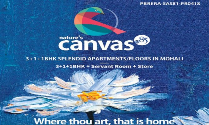 Nature's Canvas Mohali – Call – 9290000454, 9290000458 I 3 BHK Independent Floors in Wave Estate Sector 85 Mohali