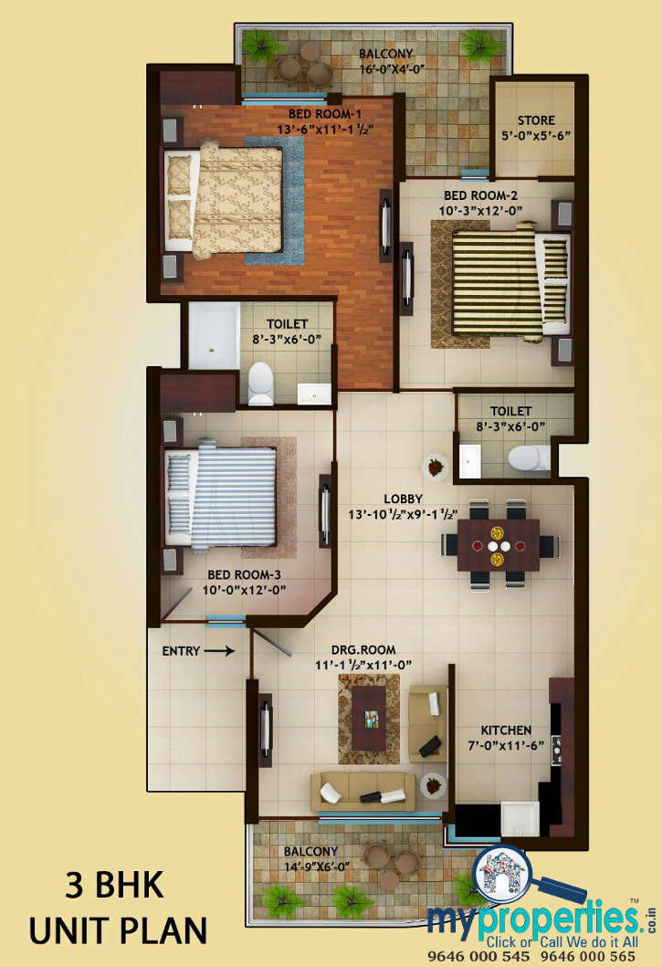 2 Bhk 3 Bhk Ready To Move Flats In Myst Homes At Patiala