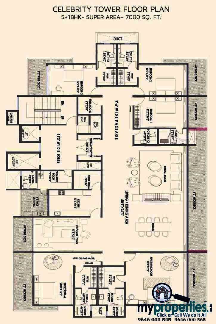 5 bhk floor plan gold mark zirakpur