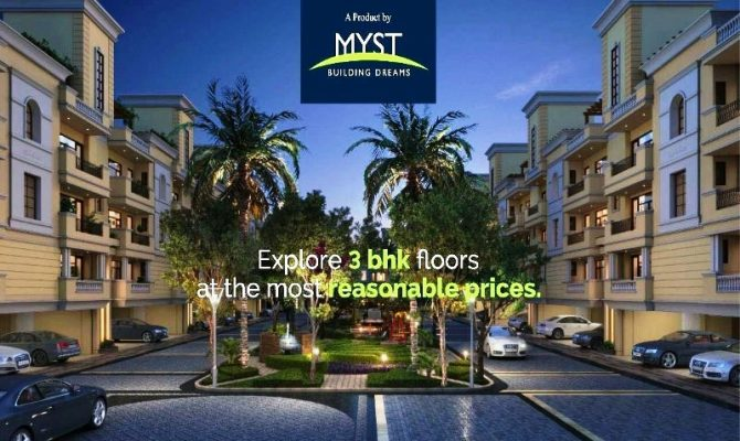 3 BHK Independent Floors in Myst Arcade Patiala Road Zirakpur – Call – 9290000454, 9290000458
