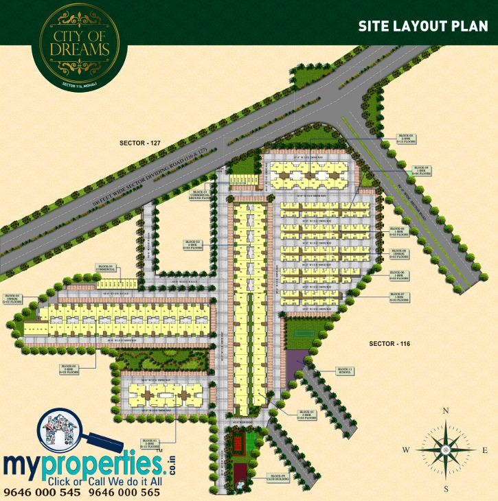 1 Bhk Flats In Sbp City Of Dreams Sector 116 Landran Road