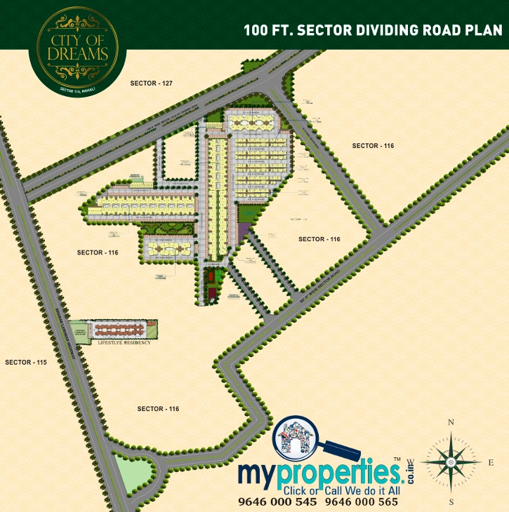 1 Bhk Flats In Sbp City Of Dreams Sector 116 Landran Road