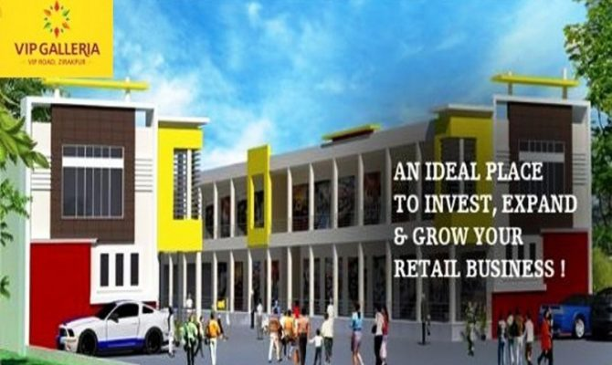 Ready To Move Shops For Sale at 30 Lac in VIP Galleria, VIP Road Zirakpur – Call – 9290000454, 9290000458