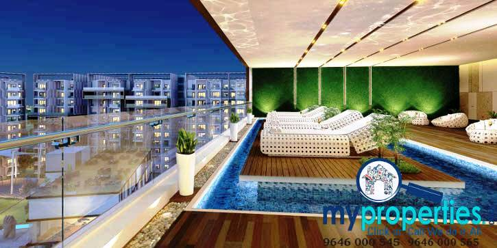 balcony_pool_view gold mark zirakpur