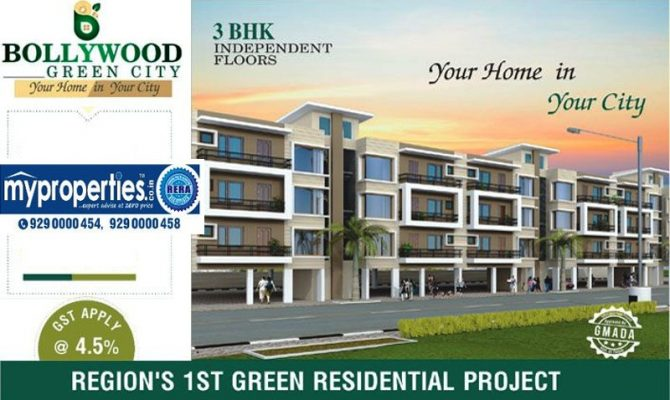 Bollywood Green City Mohali – Call – 9290000454, 9290000458 I 3 BHK Flats at  Landran Road Sector 113 Mohali