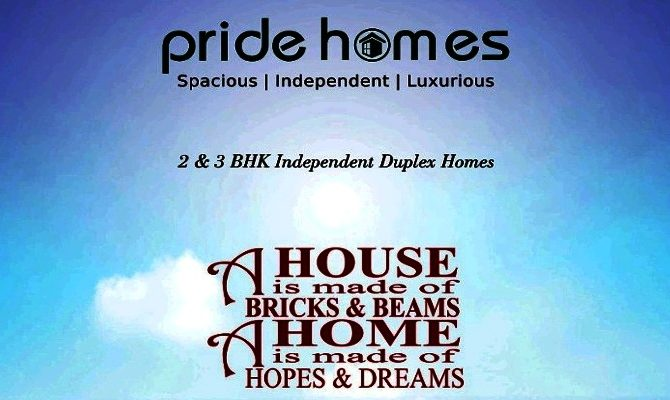 Pride Homes Derabassi I 1 BHK 3 BHK Ready To Move Duplex Kothi at Barwala Road Derabassi  – Call – 9290000454, 9290000458