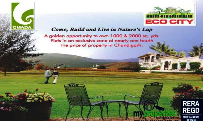 Plots for Resale in GMADA Ecocity at New Chandigarh Extension Mullanpur – Call – 9646000545, 9646000565