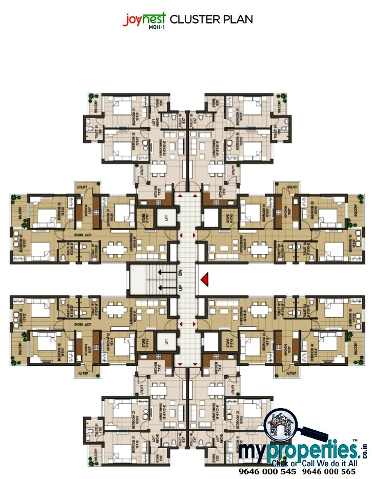 floor plan of joynest airport road mohali
