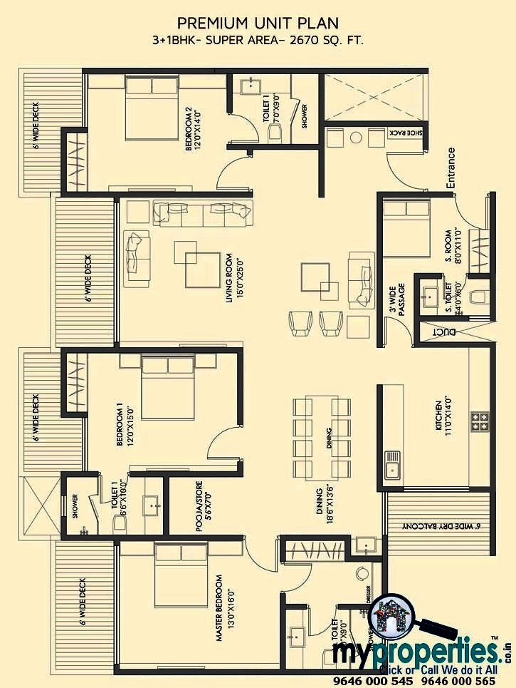 floor plans of gold mark zirakpur
