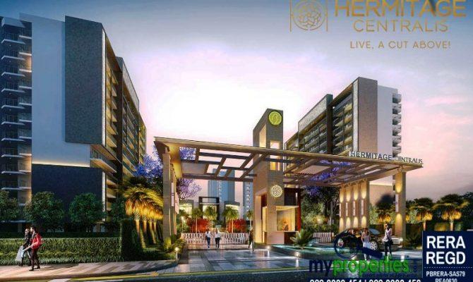 Hermitage Centralis Zirakpur – Call – 9290000454, 9290000458 I 3 BHK 4 BHK Flats at VIP Road Zirakpur