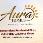 2 BHK, 3 BHK Flats & Residential Plots in Aura Homes at Patiala Highway, Zirakpur – Call – 9290000454, 9290000458