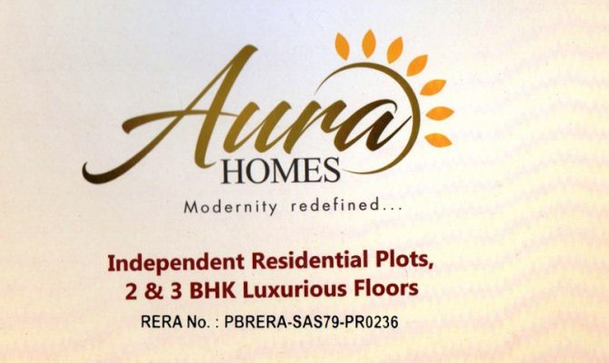 2 BHK, 3 BHK Flats & Residential Plots in Aura Homes at Patiala Highway, Zirakpur – Call – 9290000454, 9290000458