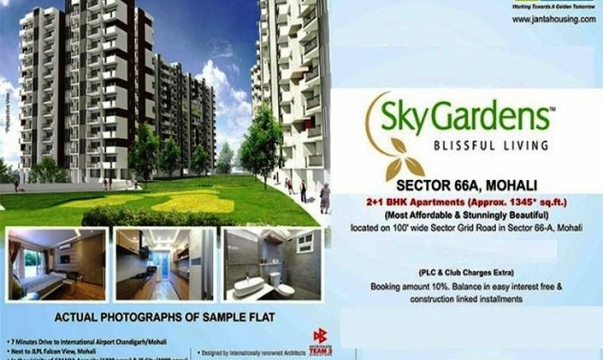 2 BHK in JLPL Sky Gardens Sector  66 A Mohali Chandigarh – Call – 9290000454, 9290000458