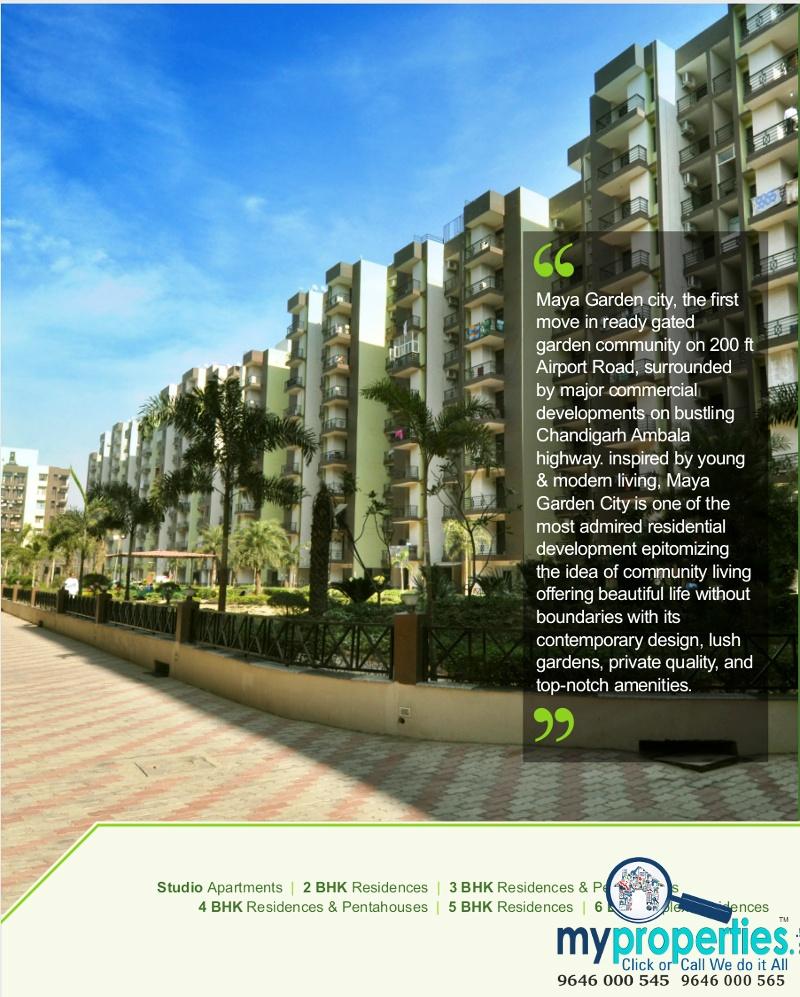 1 2 3 4 5 & 6 BHK Ready To Move Flats in Maya Garden City Ambala