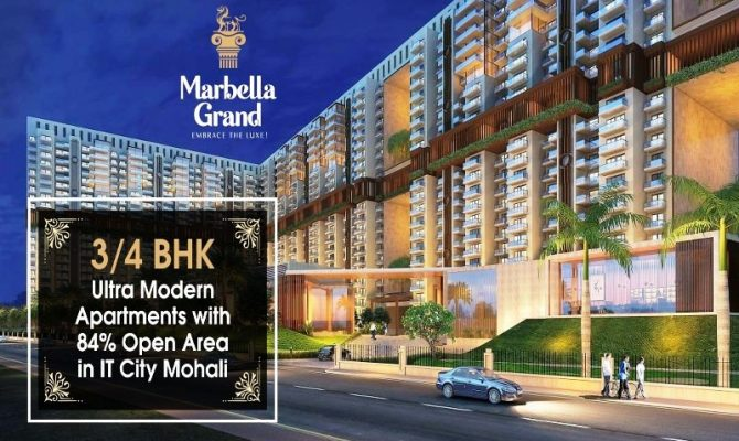 Marbella Grand Mohali – Call – 9290000454, 9290000458 I 3 BHK 4 BHK Flats at Airport Road Mohali
