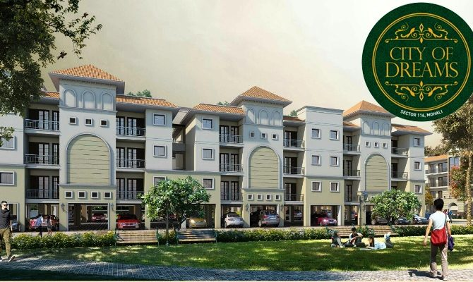1 BHK Flats in SBP City of Dreams Sector 116 Landran Road Mohali – Call – 9290000454, 9290000458