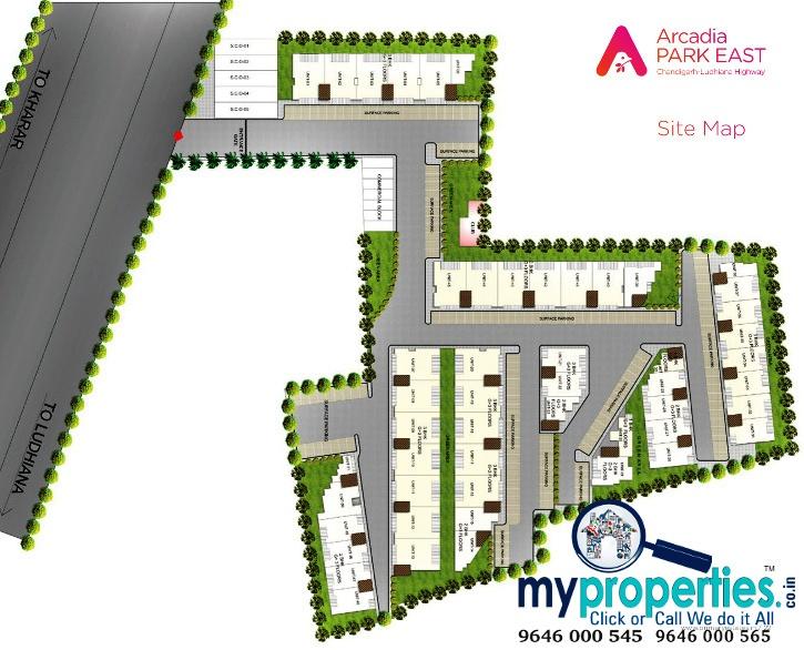 site-plan-arcadia-park-east-kharar