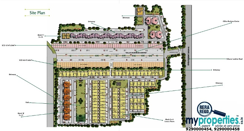 2 Bhk 3 Bhk Ready To Move Flats In Gillco Palms Sector 115