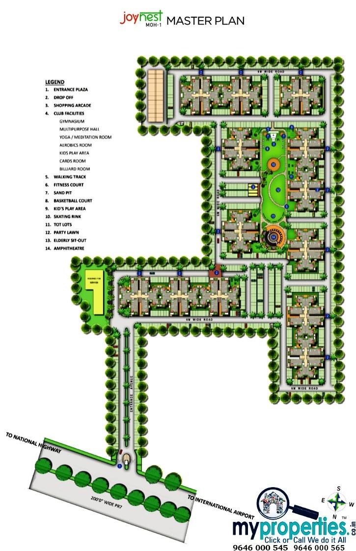 site plan of joynest airport road zirakpur